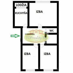 Byt 3 izbový byt typu MNKS 63 m2 s loggiou,  B. Bystrica, po rekonštrukcii – Cena 141 000€