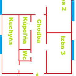 3.izbový byt s loggiou - sídlisko Sekčov