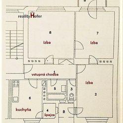 Na prenájom nezariadený 3 izbový byt s balkónom, Budovateľská, Prešov