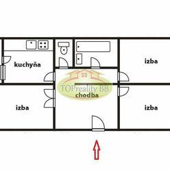 Byt 3  izbový , 70 m2,  typ  VNKS s lodžiou,  Banská Bystrica, - cena  131 000€