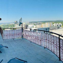 Veľký 4-izbový byt, 50m terasa, krb, klimatizácia, garáž