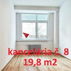Na prenájom kancelária 19,8 m2 Wolkrova, Bratislava V – Petržalka, VIDEOOBHLIADKA