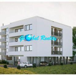 Novostavba 3 izbový byt Beluša, 87,96 m2, predzáhradka 46,48 m2.