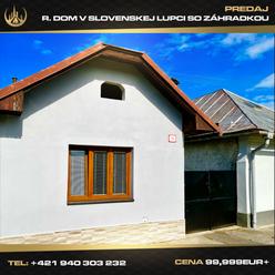 R. dom v Slovenskej Ľupči so záhradkou