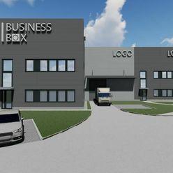 BUSINESS BOXy (sklad, showroom, office) na predaj/ prenájom – Trnava 300-600m2