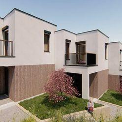 SKOLAUDOVANÝ BYT C !!! Novostavba, dvojpodlažného 4 - izbového bytu, 3 parkovacie státia, terasa, ba