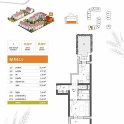 D10.1.3  1-izbový byt s 2 predzáhradkami - rezidenčný projekt POLIANKY - Za