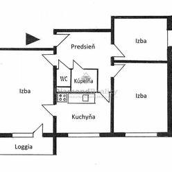 Na predaj 3 izbový byt v pôvdonom stave na ulici Čiernomorská, Košice - Nad jazerom