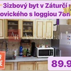 Predaj:3izbový byt ul.Makovického Martin-Záturčie, 80m2 s loggiou