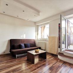 Priestranný 1,5-izbový byt s terasou blízko centra, Bratislava – Nové mesto