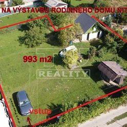 EXKLUZÍVNA LOKALITA! Priestranný pozemok na výstavbu rodinného domu v Nitre časť Šúdol s výmerou 993