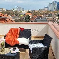 3 izbový podkrovný byt s panoramatickým výhľadom na ulici Trenčianska - Ružinov