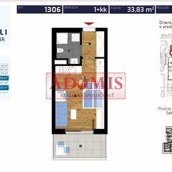ADOMIS - odstúpim 1 izbový byt s loggiou a parkovacím miestom, Novostavba ''Rezidencia ALBELLI''