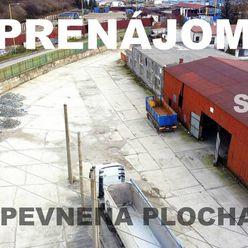 SPEVNENÁ PLOCHA 4400 m² s uzamykateľným SKLADOM 480 m² - Delňa - PO