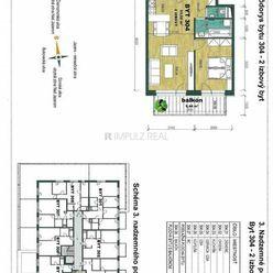 Novostavba ''BUKOVECKÁ'', 2 izbový, 54m2 + balkón, v štandarde