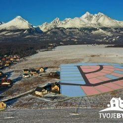 Zelený vŕšok - 4 stavebné pozemky na predaj z 38 v Starej Lesnej, Vysoké Tatry