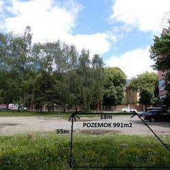 EXKLUZÍVNE!!! Rovinatý pozemok na  komerčné účely , Ružomberok (991m2)