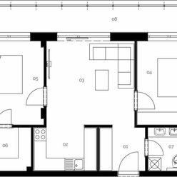 Na predaj 3 izbový byt - apartmán s balkónom a skvelou dispozíciou v jedinečnej novostavbe v Malacká