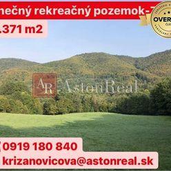 REZERVOVANÉ: Slnečný rekreačný pozemok pod lesom- Zbora (11.371 m2)