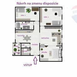 Na predaj veľkometrážny 4 izbový byt so záhradou Malacky