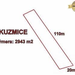 Kuzmice, stavebný pozemok, 2943m2 Topoľčany