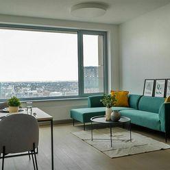 PARKOVANIE V CENE! 25. poschodie, luxusný, zariadený 2-izb. byt v rezidencii SKY PARK