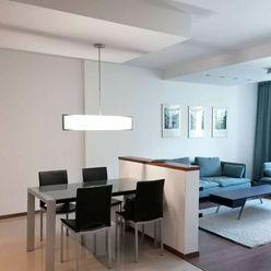 Ponúkame na prenájom moderne zariadený 3izbový byt v novostavbe, s 2 parkovacími miestami v garáži,