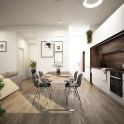 NOVÉ ZLATOVCE - J1.1 / 2-izbový byt, 61 m2, balkón, 1. poschodie/4., NOVOSTAVBA