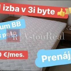 Prenájom: 1 izba pre 1 osobu v 3-izb. byte, centrum B. Bystrice