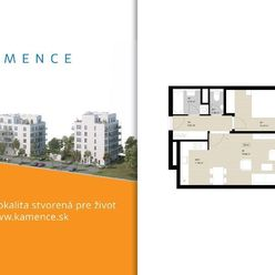 Byt 2+kk s balkónom - NOVOSTAVBA (D5.4)