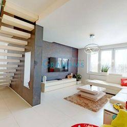 3D prehliadka, exkluzívny 4 izb. penthouse, Miletičova, Ružinov
