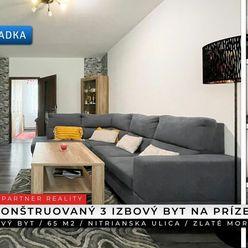 3 izbový prerobený byt, Nitrianska, Zlaté Moravce + 3D