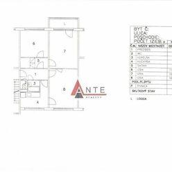 3 izbový Terasa, Sokolovská ul., cca 69 m2, 6.posch., lodžia, výťah, PS, zateplený dom, nový výťah