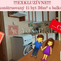 AstonReal: Exkluzívny predaj zrekonštruovaný 1i byt 36 m2 Poprad - Juh