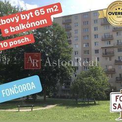 REZERVOVANÉ: 3 izb. byt 66m2 s balkónom 6/10 p. Mládežnícka, BB