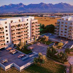 PRIAMY VÝHĽAD NA VYSOKÉ TATRY -  6. PODLAŽIE - 2-izbový byt s balkónom 6B - BYTOVÝ DOM BARBORA