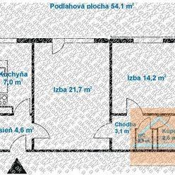 2 izb. byt, MEDZILABORECKÁ ul., po NOVEJ rekonštr. podľa Vašich predstáv