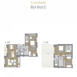 5 izbový mezonetový byt 602.C na pešej zóne v samom centre Bratislavy
