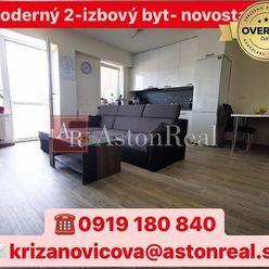 REZERVOVANÉ: Moderný, vkusne zariadený 2-izbový byt v novostavbe