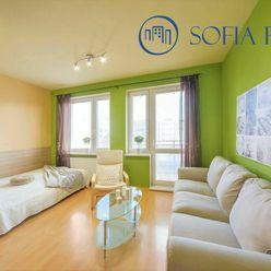 3D: Tehlový a zariadený 1-izbový byt s BALKÓNOM, Vyšehradská ul. - Petržalka