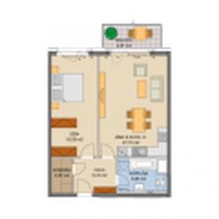 Jégého alej, 0512A.B - priestranný apartmán