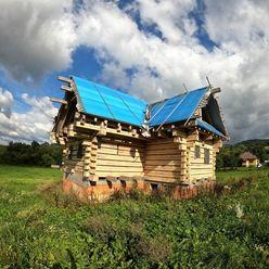ZNÍŽENÁ CENA! Exkluzívne na predaj zrubový dom s výhľadom na Spišský hrad