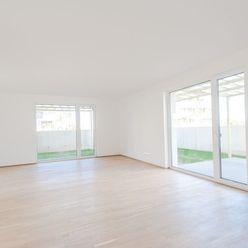Predaj: priestranný 4i byt s predzáhradkou, Kolísky, ihneď k nasťahovaniu