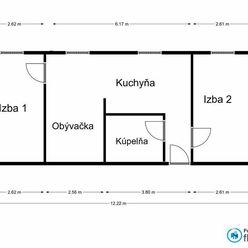 Veľký 3 izbový byt v mestskej časti Košice - Šaca