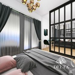 DELTA   1 izb. ateliérový byt s predzáhradkou v novom projekte Cubicon Gardens, 80 m2