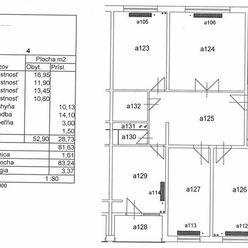 Byt 4+1 (85 m2) s loggiou, sídl. Mier Sp. Novej Vsi
