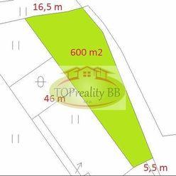 Stavebný pozemok 600 m2,  v Banskej Bystrici -  Cena 52 000 €