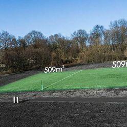 Záhrada 509 m2 v tichej časti, Kamenný Potok - MYSLAVA