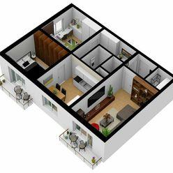 Na predaj veľký, svetlý 3 izb. byt, Sereď