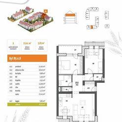 (D9.4.8) 3-izbový byt s loggiou- rezidenčný projekt POLIANKY - Zavar